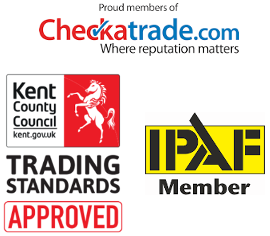 Gutter cleaning accreditations, checktrade, Trusted Trader, IPAF in Gravesend