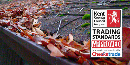 Gutter cleaning in Gravesend, Greenhithe, Northfleet and Longfield